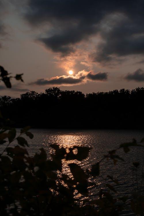 Gratis arkivbilde med daggry, elv, hav