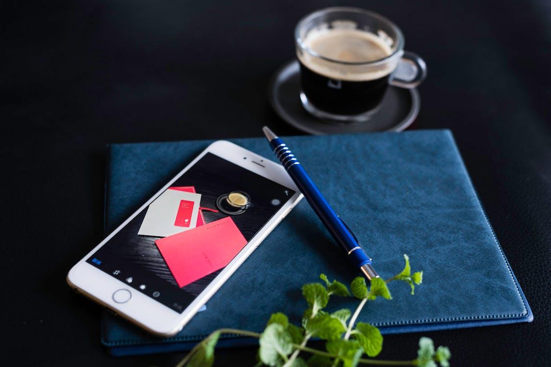smartphone, ασύρματος, καφές