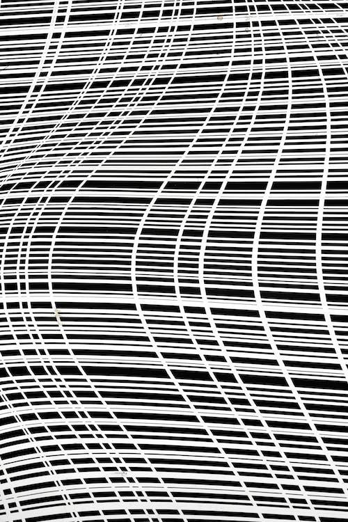 Foto d'estoc gratuïta de blanc i negre, corbes, línies