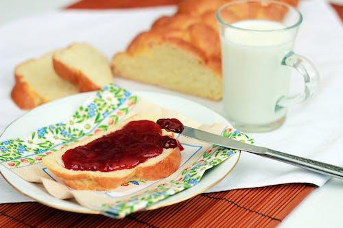 Free stock photo of food, jam, meal, milk