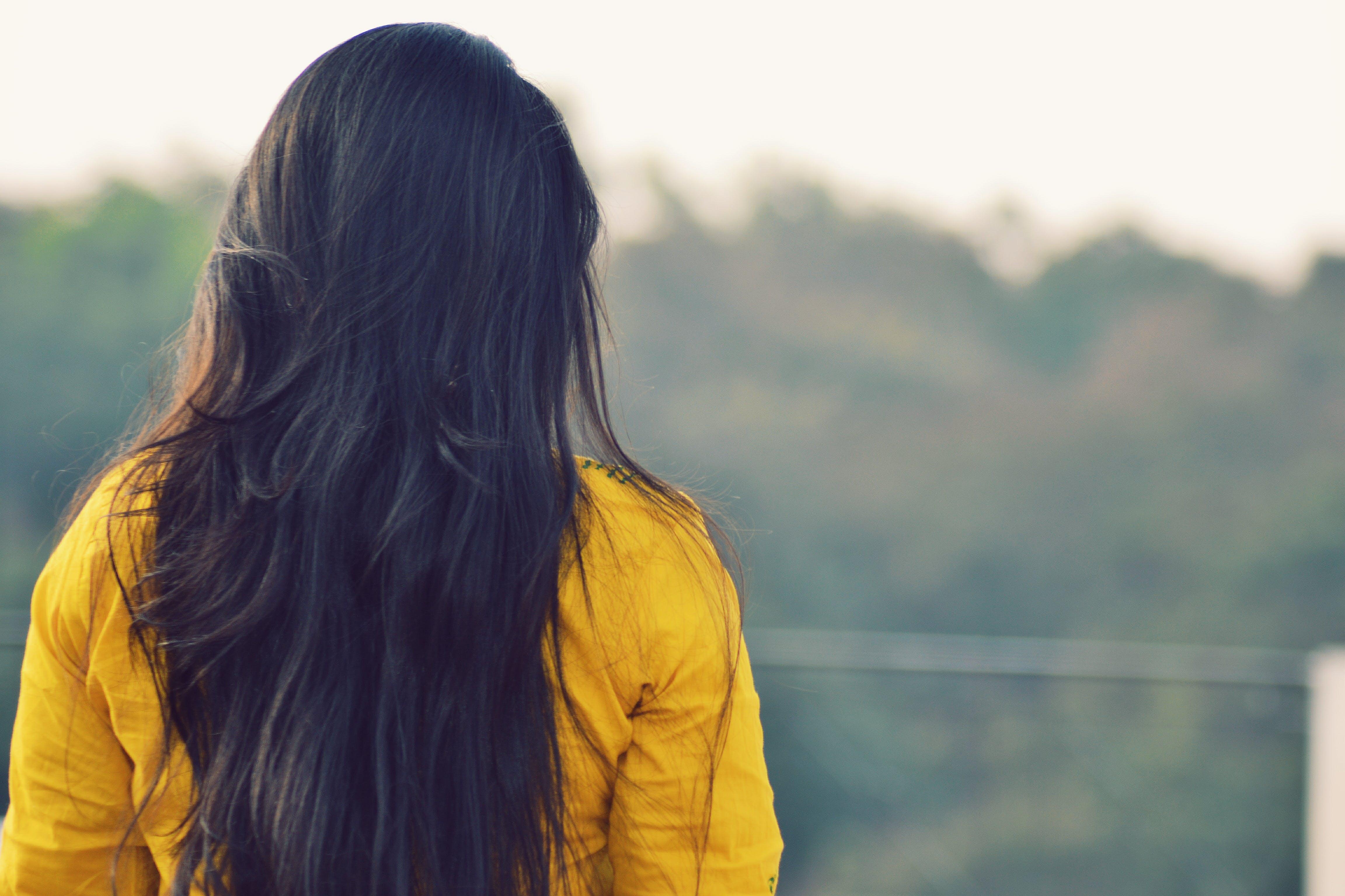 Free stock photo of girl, yellow, straight, india