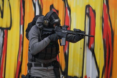 Foto d'estoc gratuïta de airsoft, arma, armilla, asg
