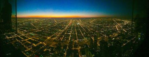 Foto d'estoc gratuïta de #mobilechallenge, chicago, crepuscle, horitzó