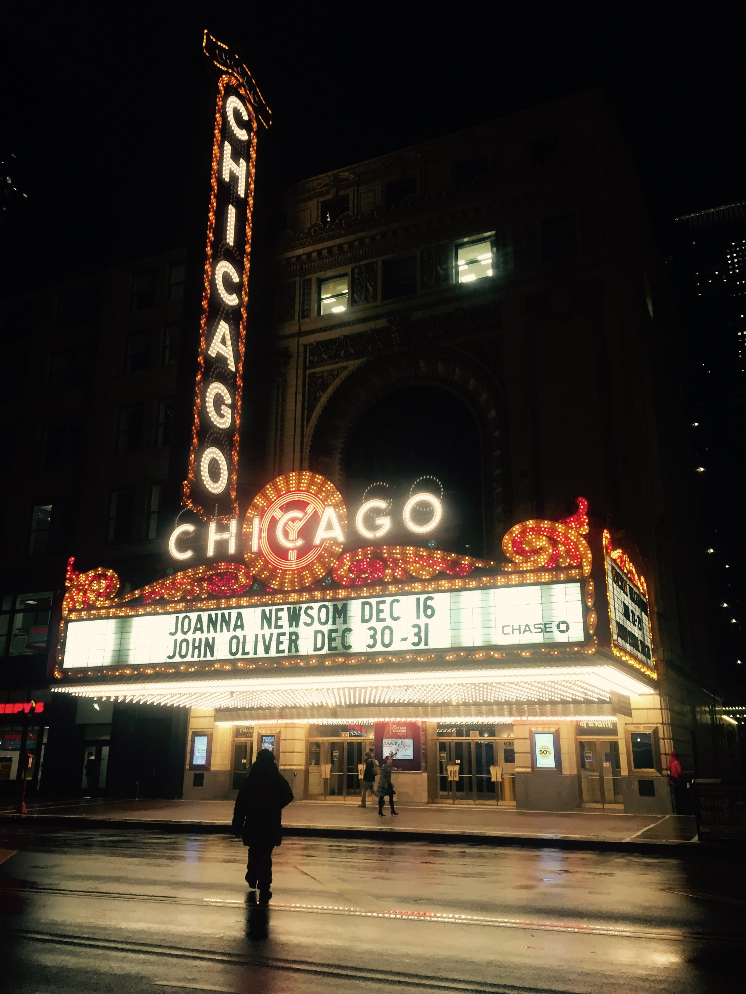 Chicago Movie Theater during Nighttime