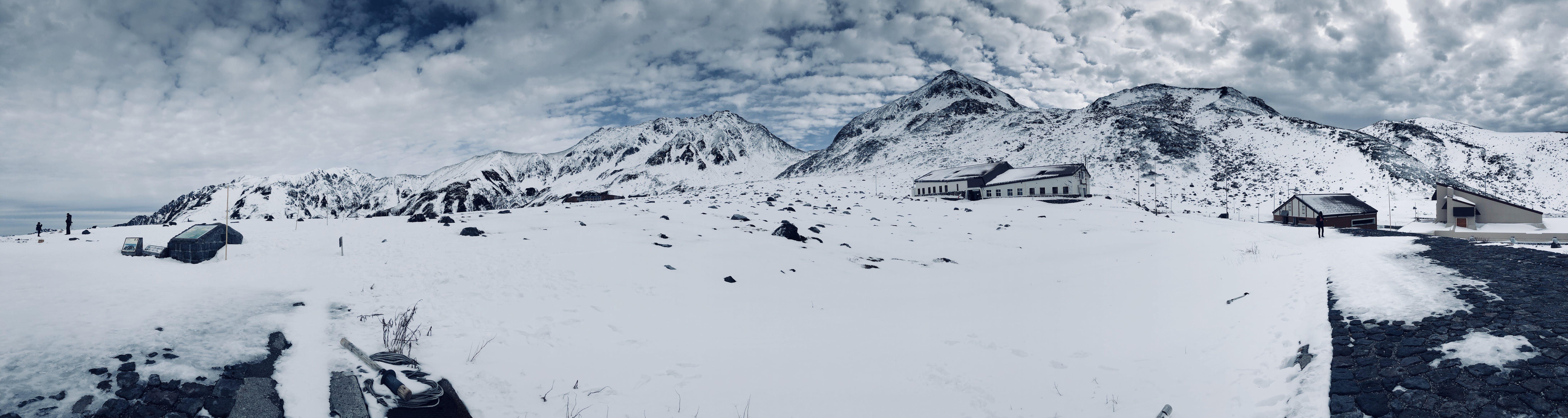 Gray Train Near Mountain