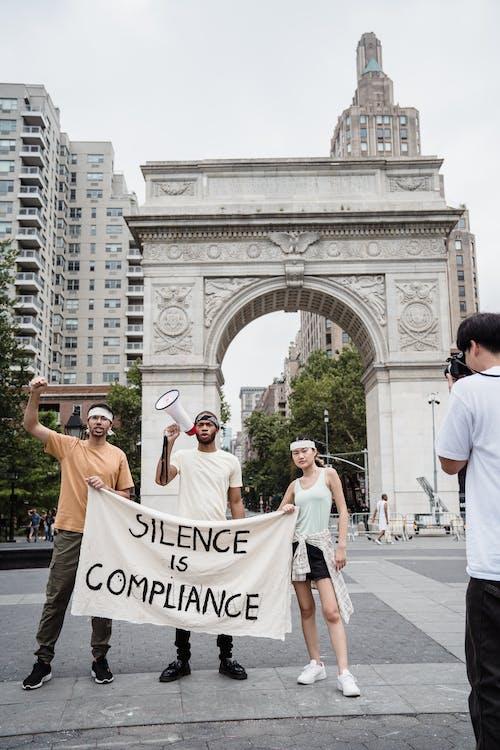 Protesters Near the Washington Square Arch