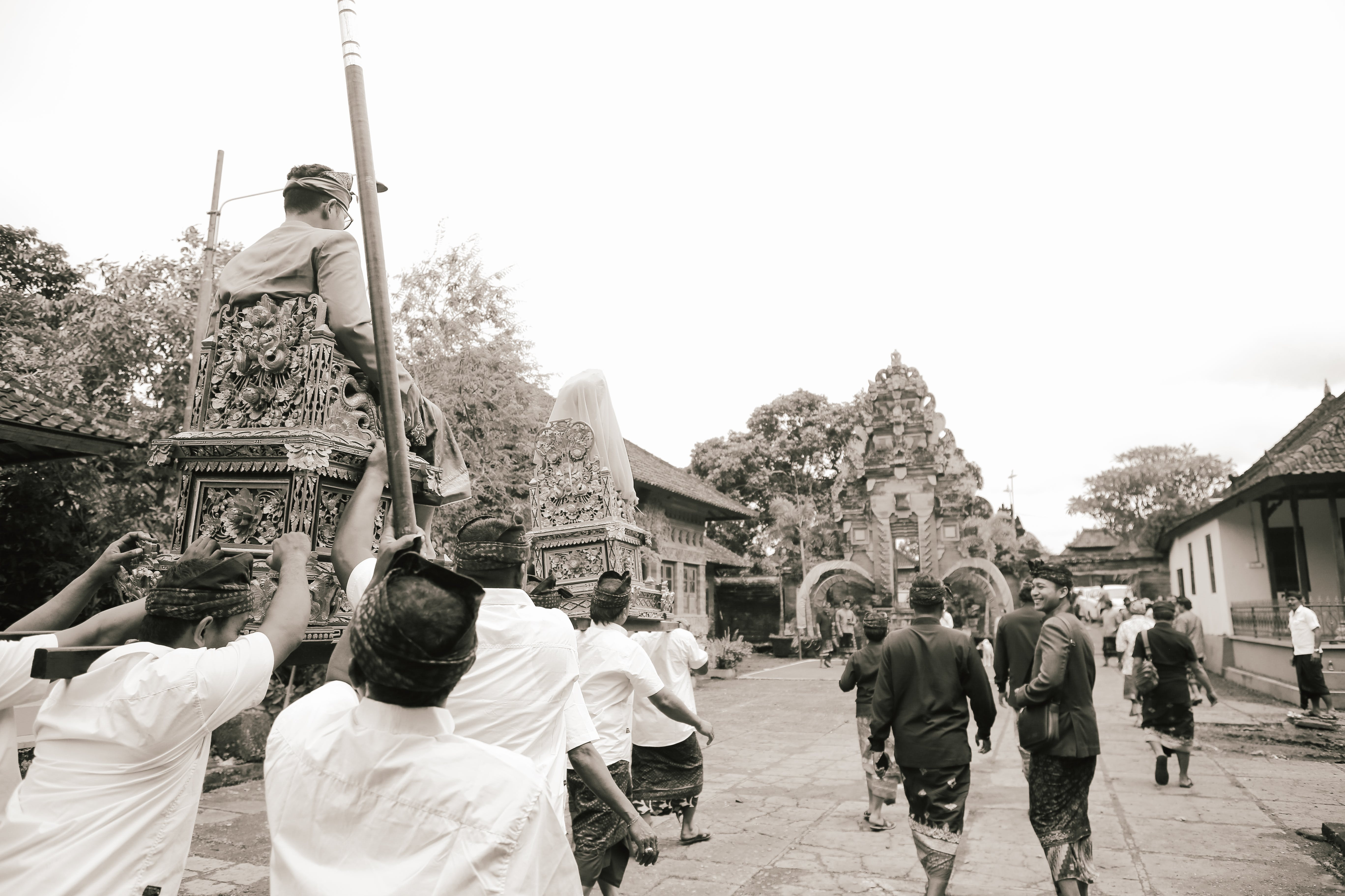 Free stock photo of bali, balinese, black and white, culture