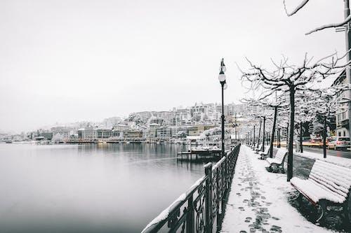 Základová fotografie zdarma na téma bílá, budovy, člun, denní světlo