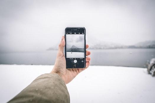 Kostenloses Stock Foto zu schnee, licht, landschaft, mann