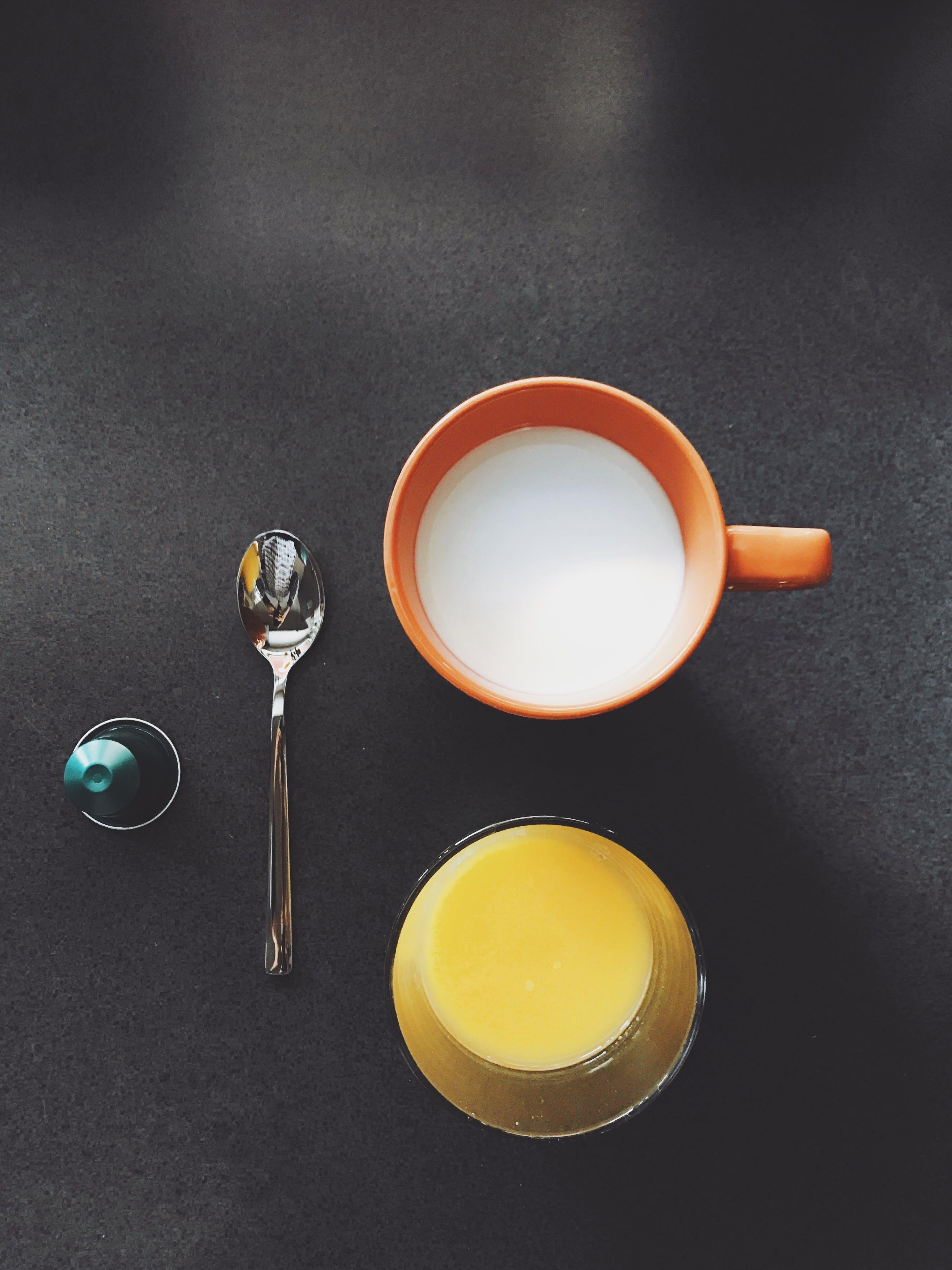 Orange And Milk Drink