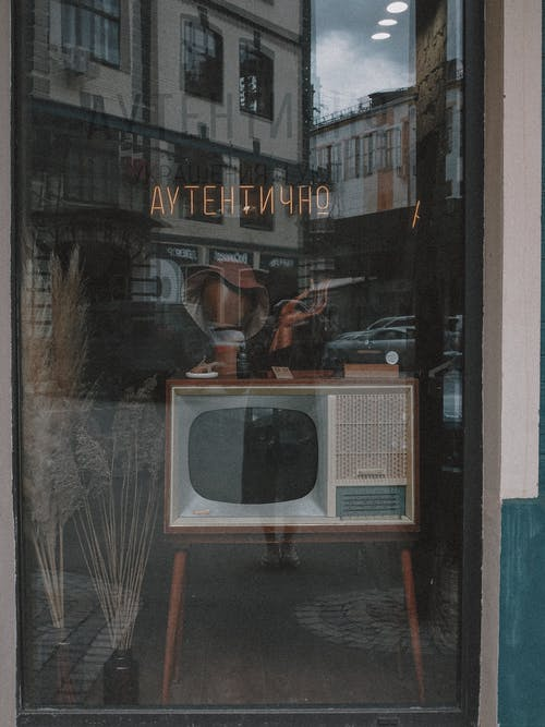 A Vintage Television Set on the Display Window