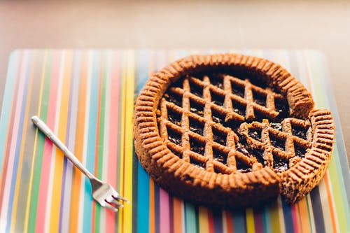 Kostenloses Stock Foto zu essen, gabel, gebäck, kuchen
