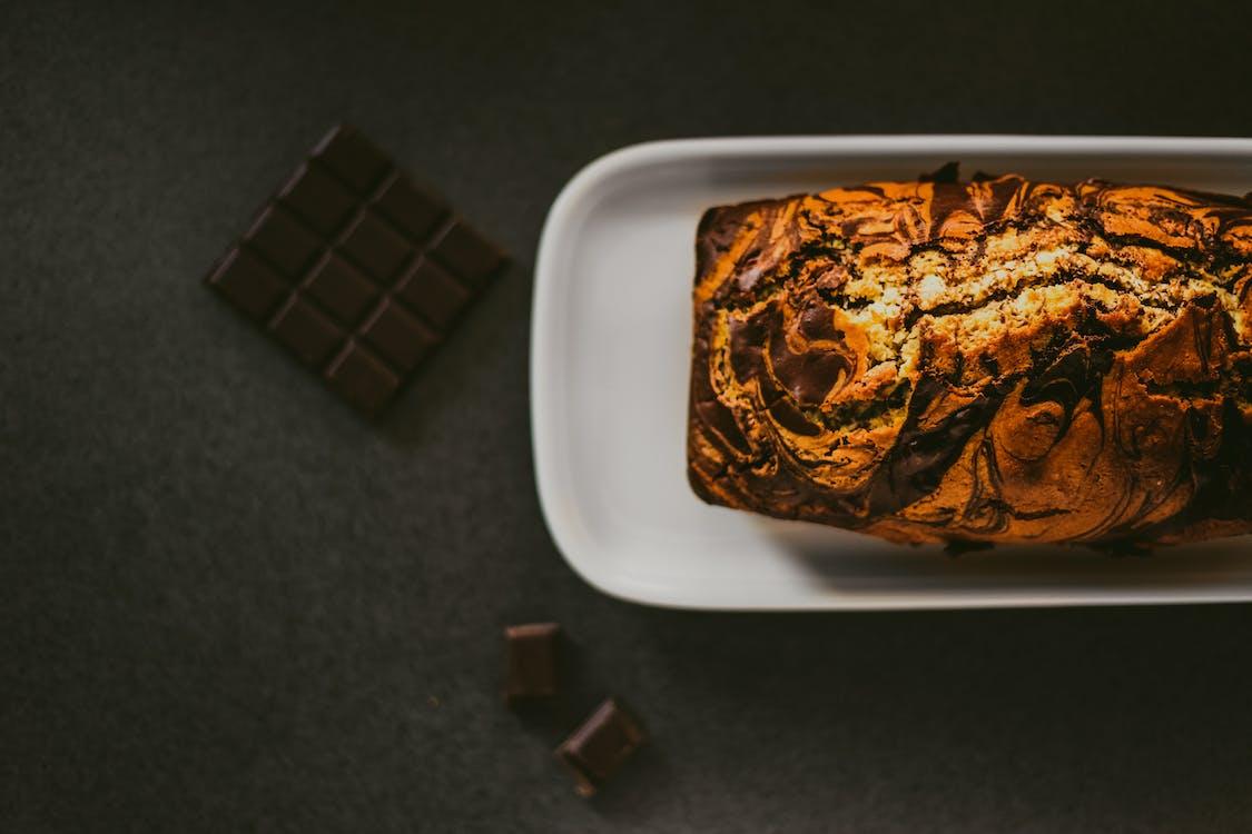 bord, brood, chocolade