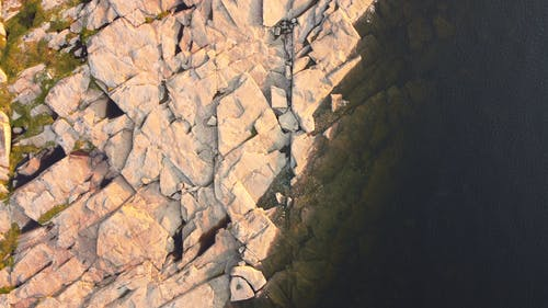 View from Above of Granite Rocks Formation