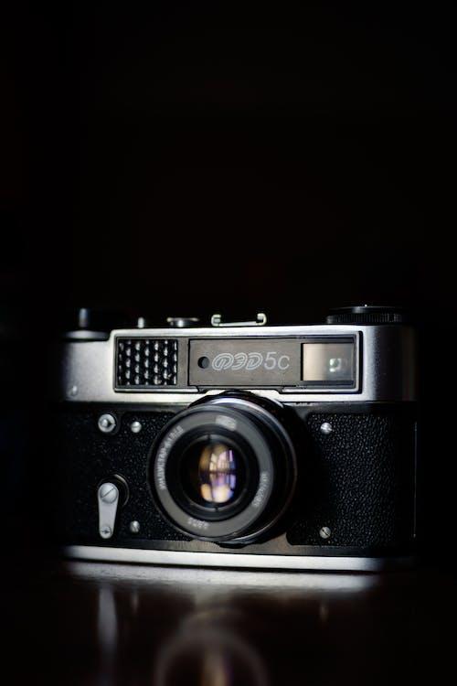 Close-up Shot of an Analogue Camera