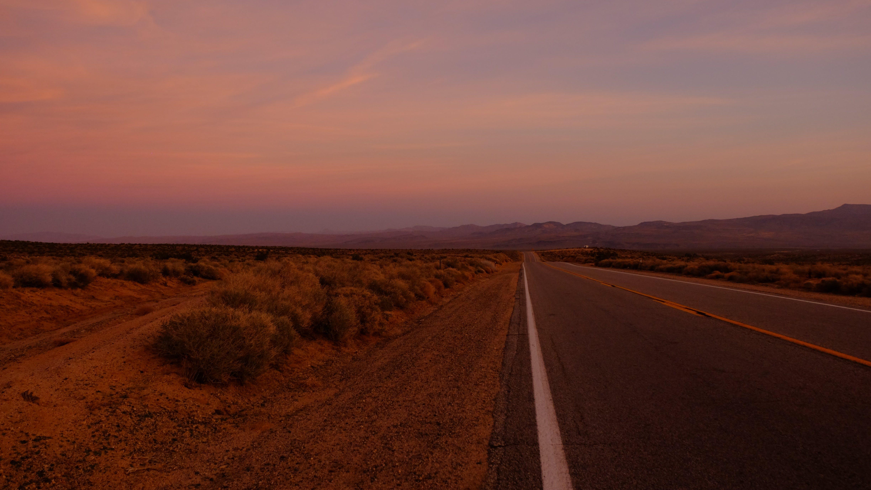 Road Towards Mountain during Sunset