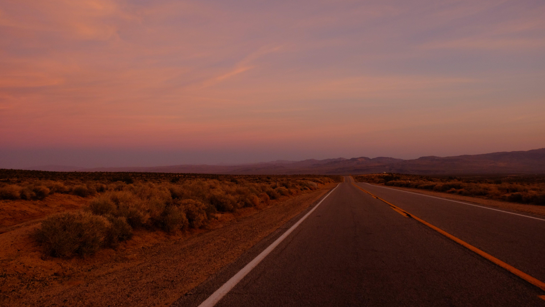 Empty Road in Dessert