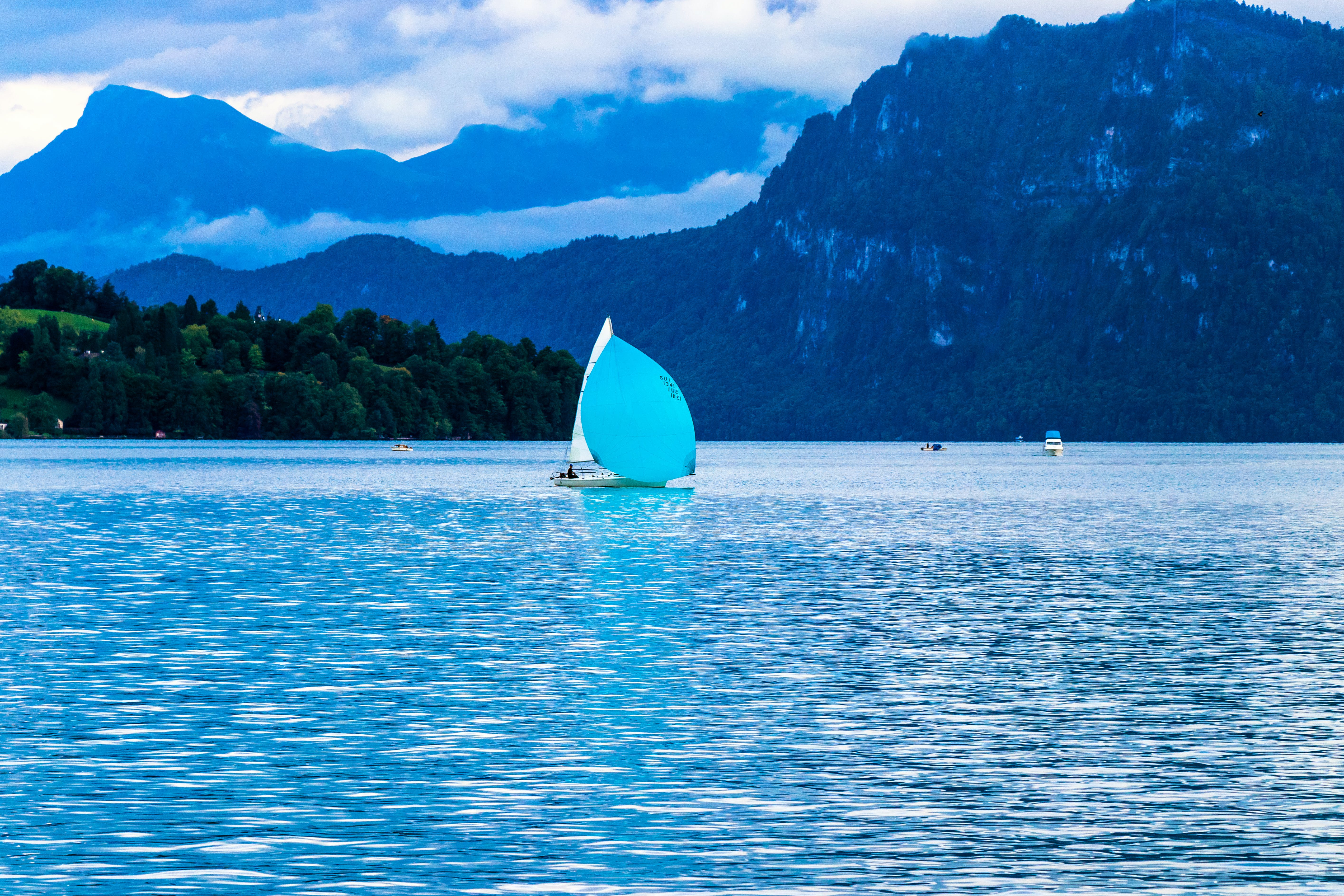 Sailing Boat on Body of Water