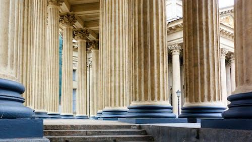 Ancient Greek Brown Stone Pillars