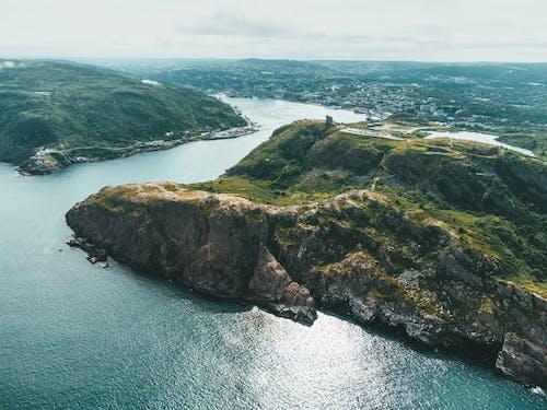 Aerial Shot of an Estuary