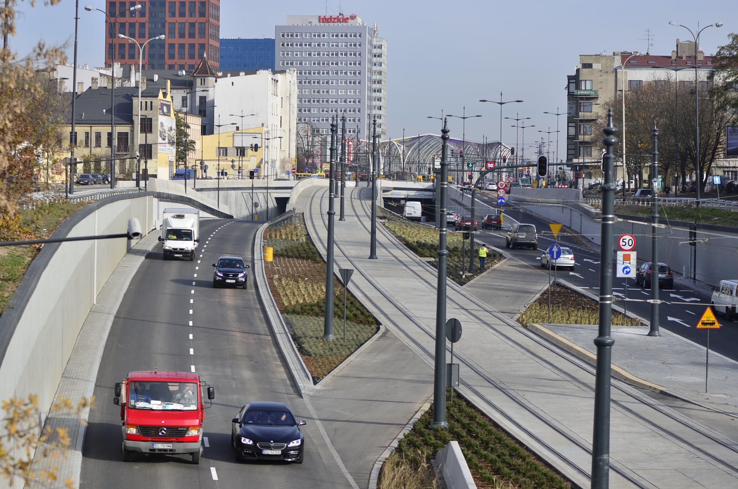 Free stock photo of cars, city, Konrad Ciężki, rails