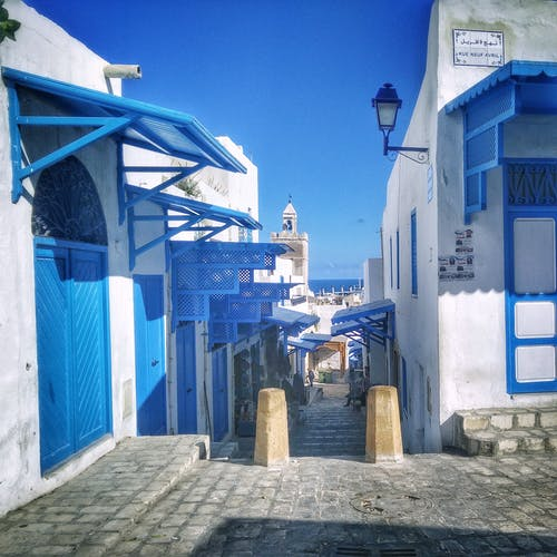 White and Blue Houses
