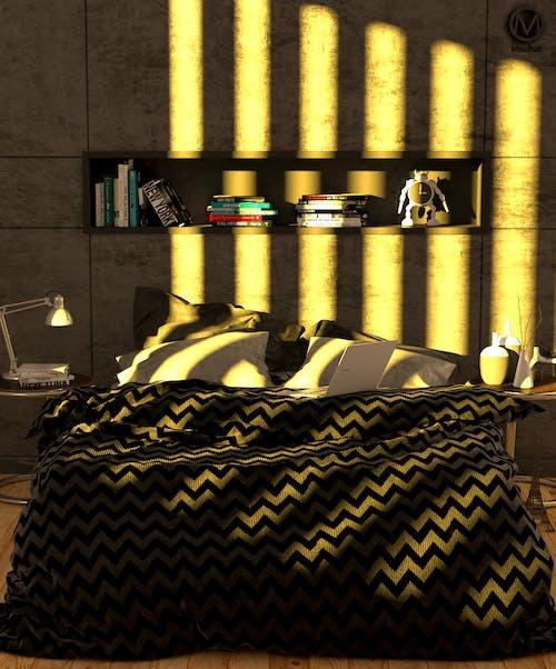 Ilmainen kuvapankkikuva tunnisteilla luova, makuuhuone, moderni, musta