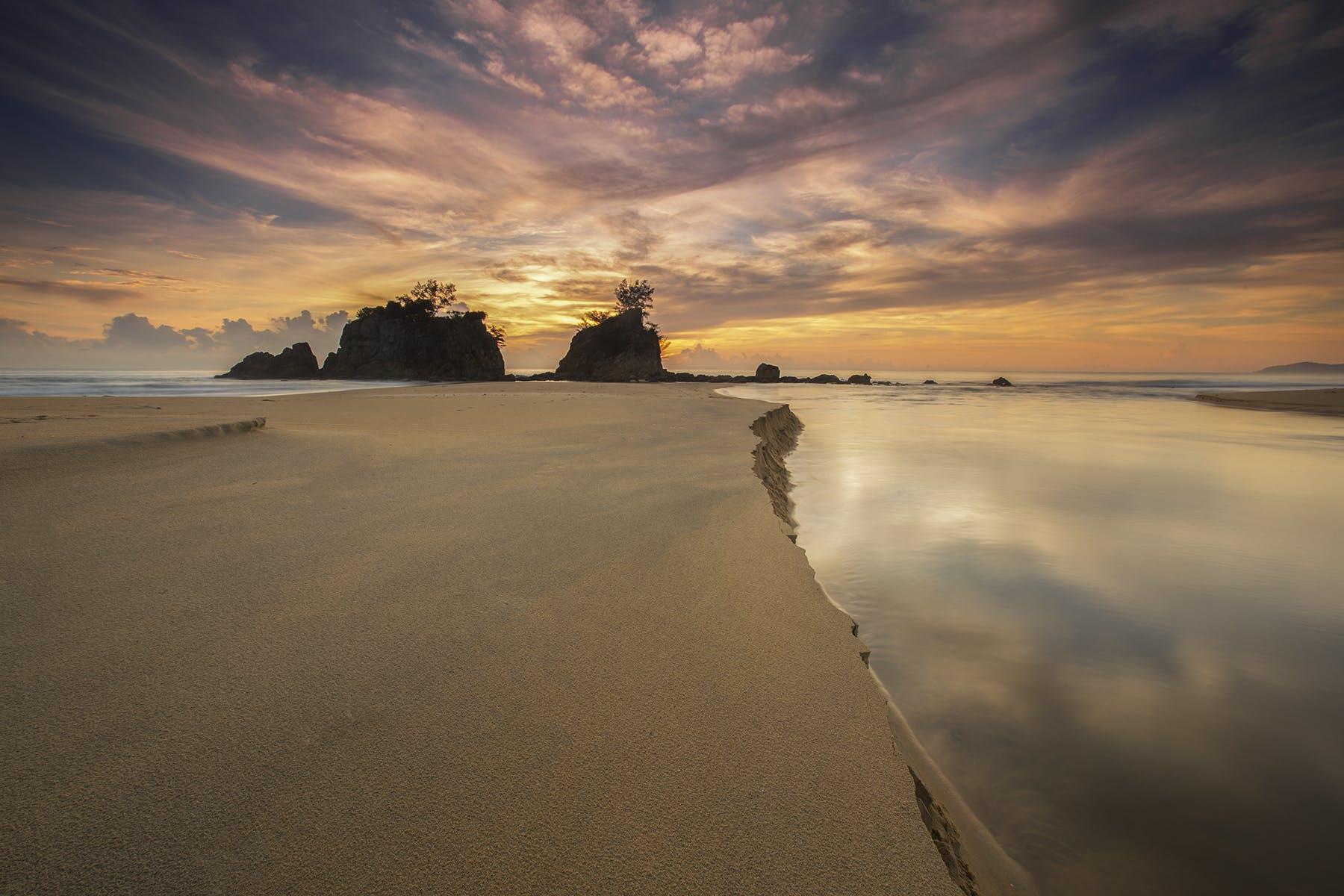 Panoramic Photo of Bay and White Sand during Daytime