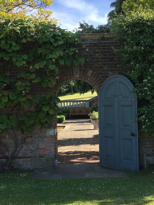 Free stock photo of door, garden door, hole in the wall