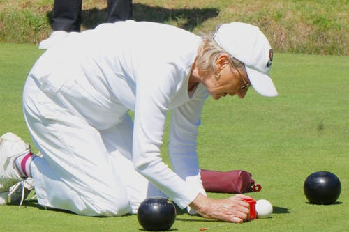 Free stock photo of lawn bowls, measuring lawn bowling