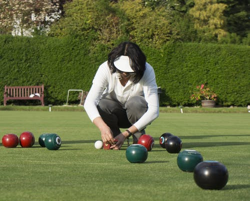 Free stock photo of lawn bowling, measuring bowls