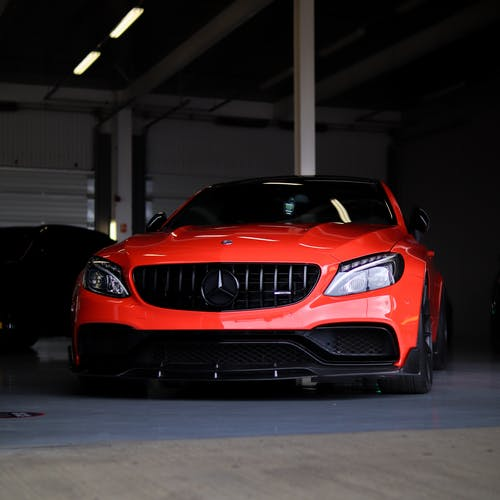 Red Mercedez Benz Luxury Car