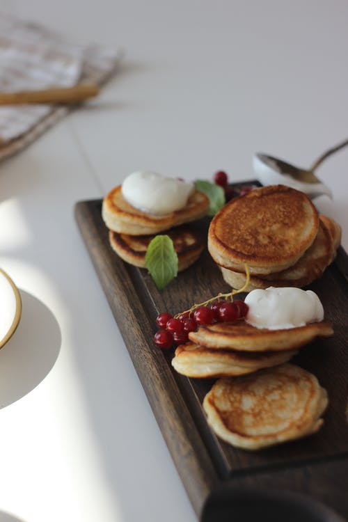 Pancakes on a Wooden Board