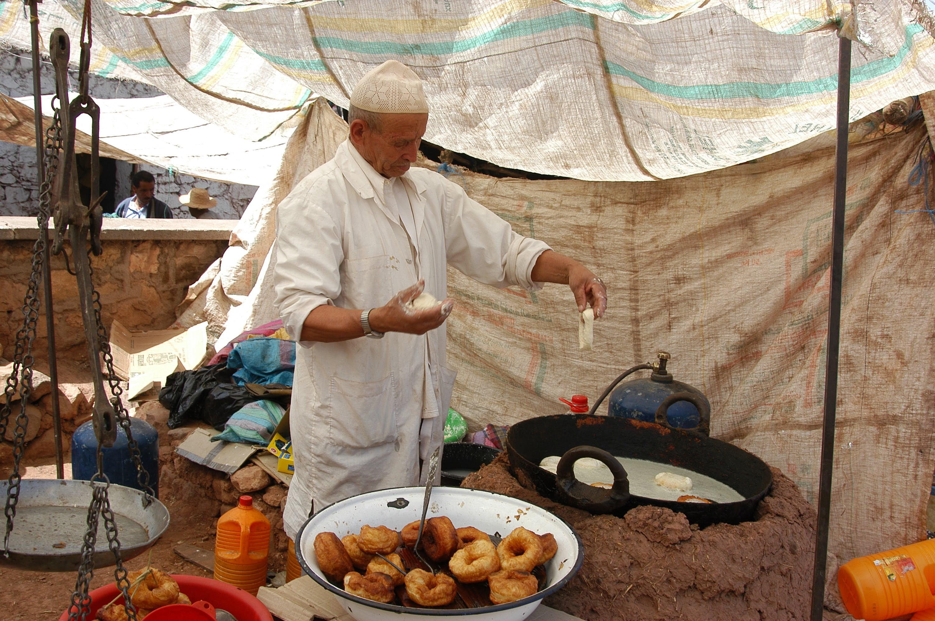 Free stock photo of donuts, morocco, people