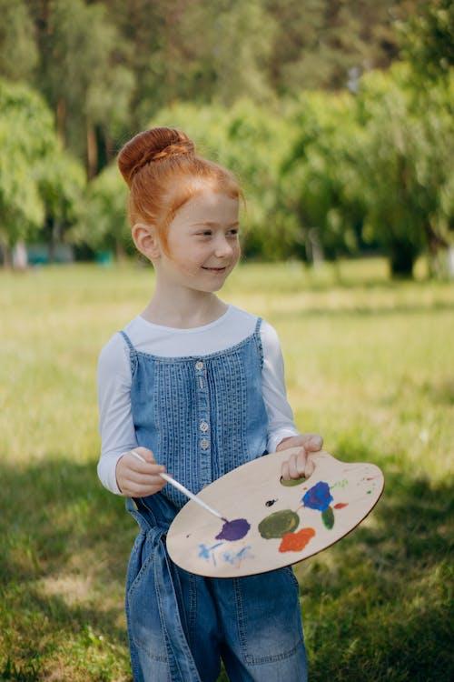 boya fırçası, çocuk, çok sevimli içeren Ücretsiz stok fotoğraf