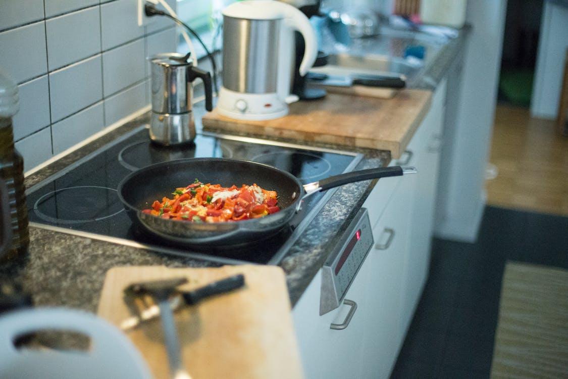 food, kitchen, pan
