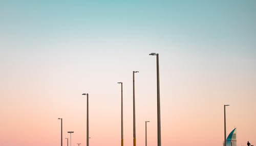 #lightpost, #天空, #建造 的 免费素材照片