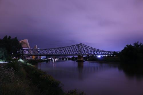 Fotobanka sbezplatnými fotkami na tému modrá, modrá obloha, most