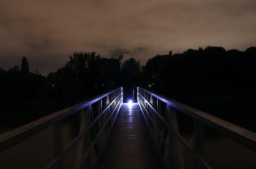 Fotobanka sbezplatnými fotkami na tému modrá, nočný čas, pontón