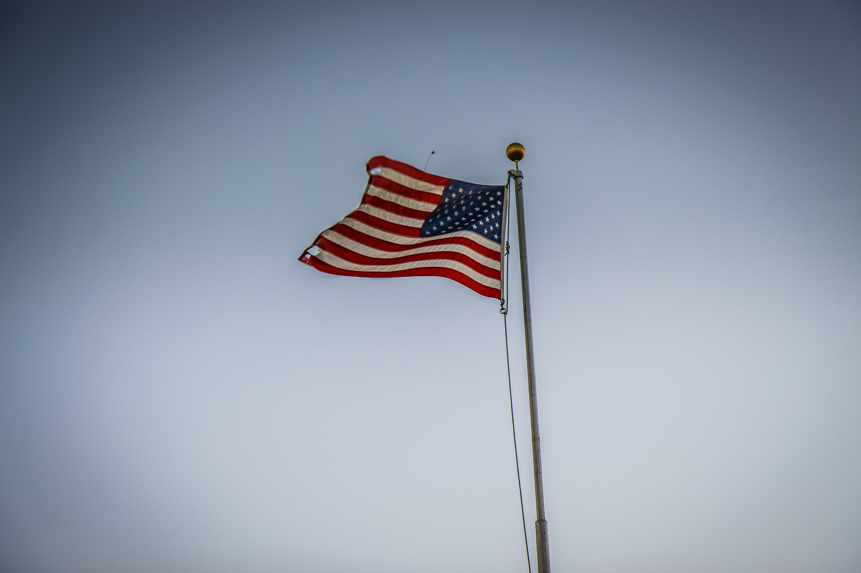 U.s.a. Flag on Pole