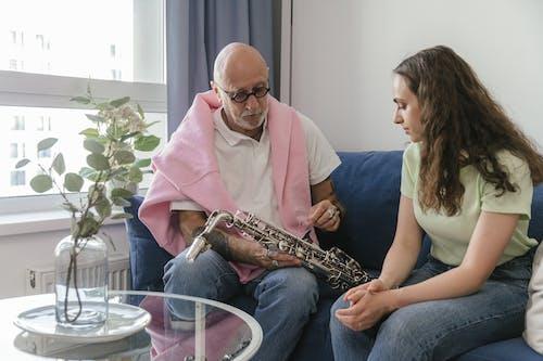 Gratis lagerfoto af ældre, blæseinstrument, instrument