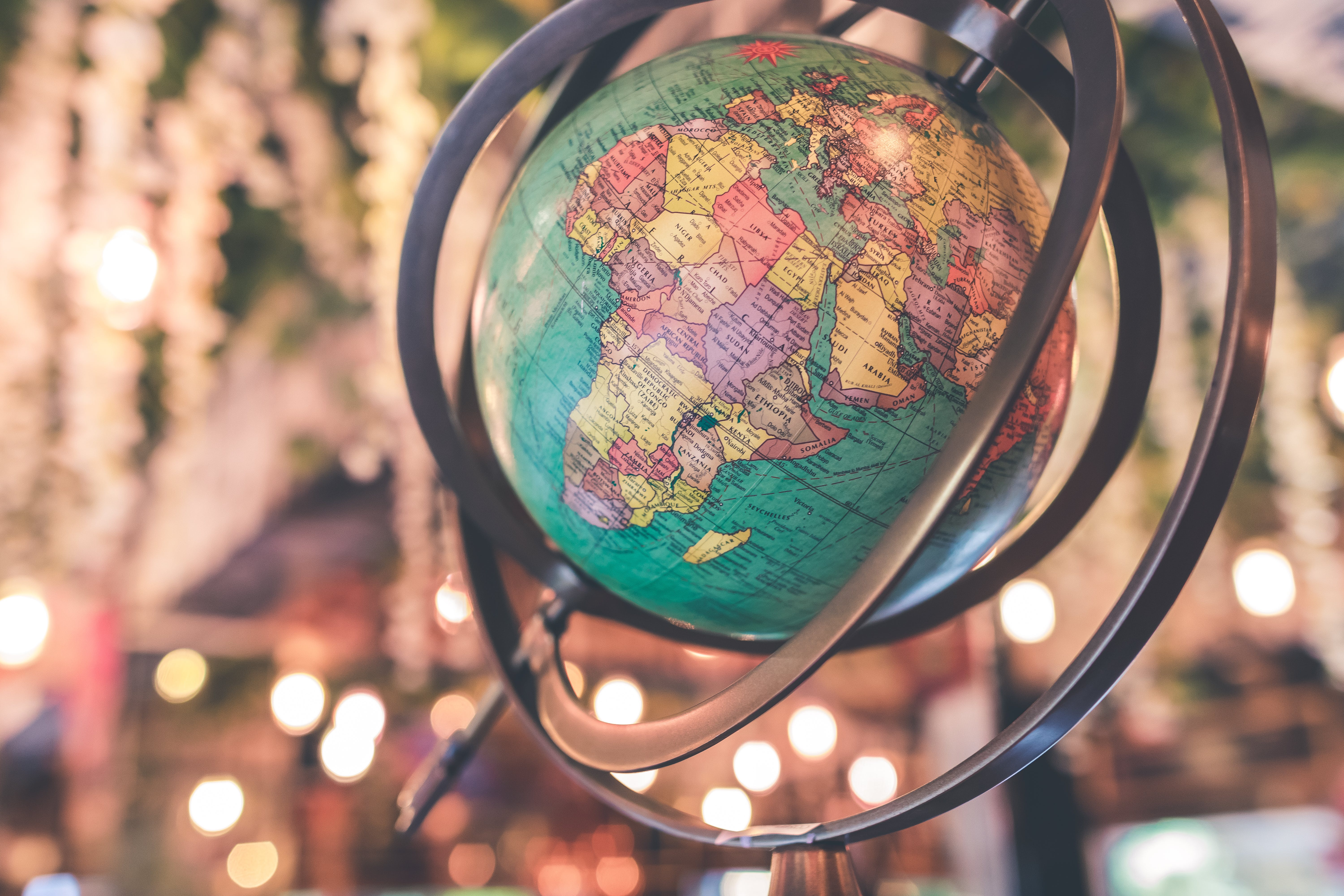 Black and Green Desk Globe