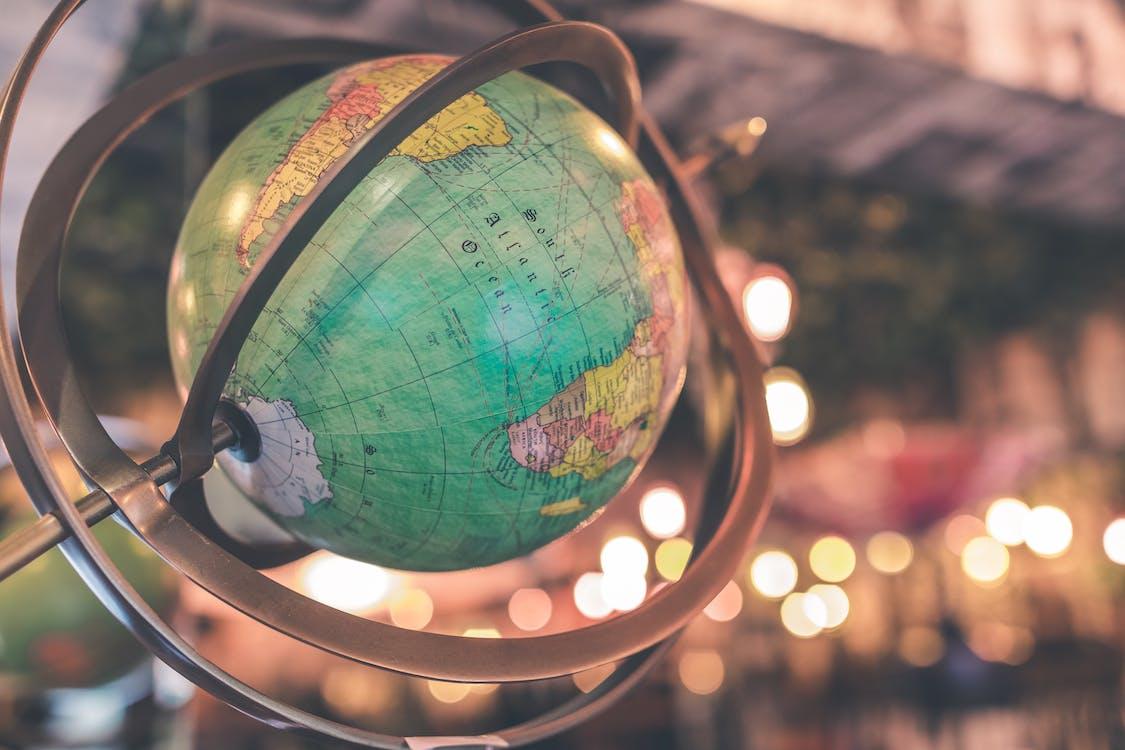 Green and Multicolored Globe
