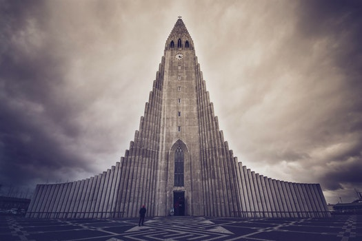 Free stock photo of iceland, cloudy, architecture, church