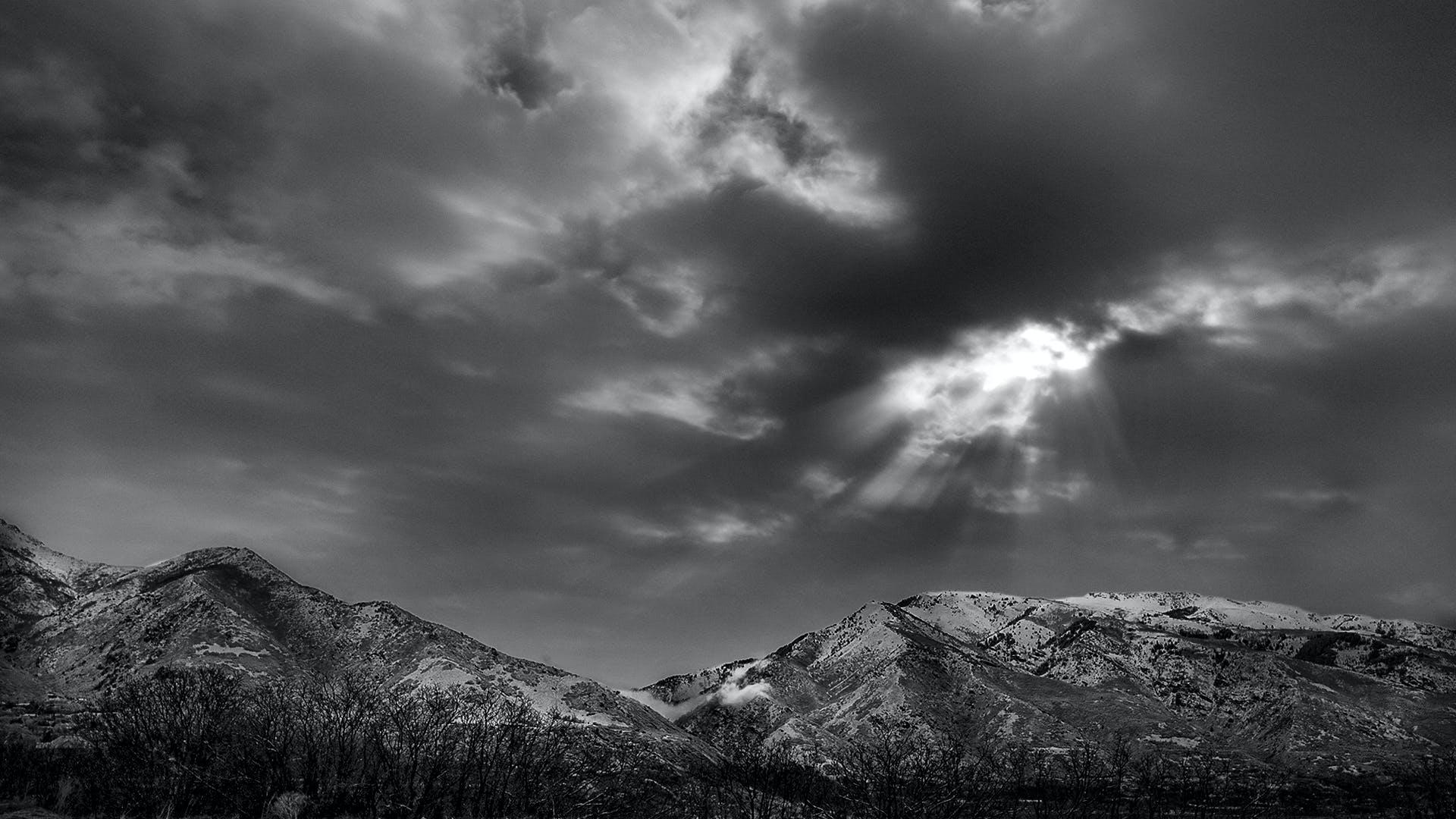 Foto d'estoc gratuïta de muntanyes, núvols, sol, south weber