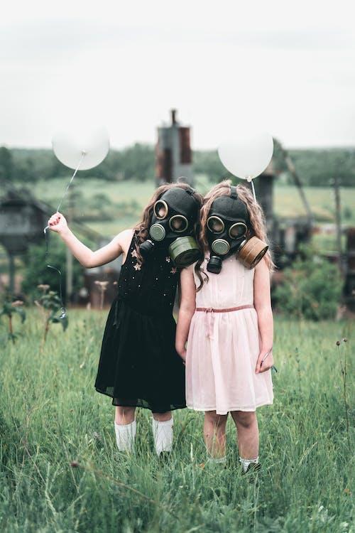 Fotobanka sbezplatnými fotkami na tému deti, nevinnosť, plynová maska