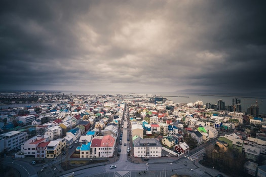 Free stock photo of iceland, city, clouds, village