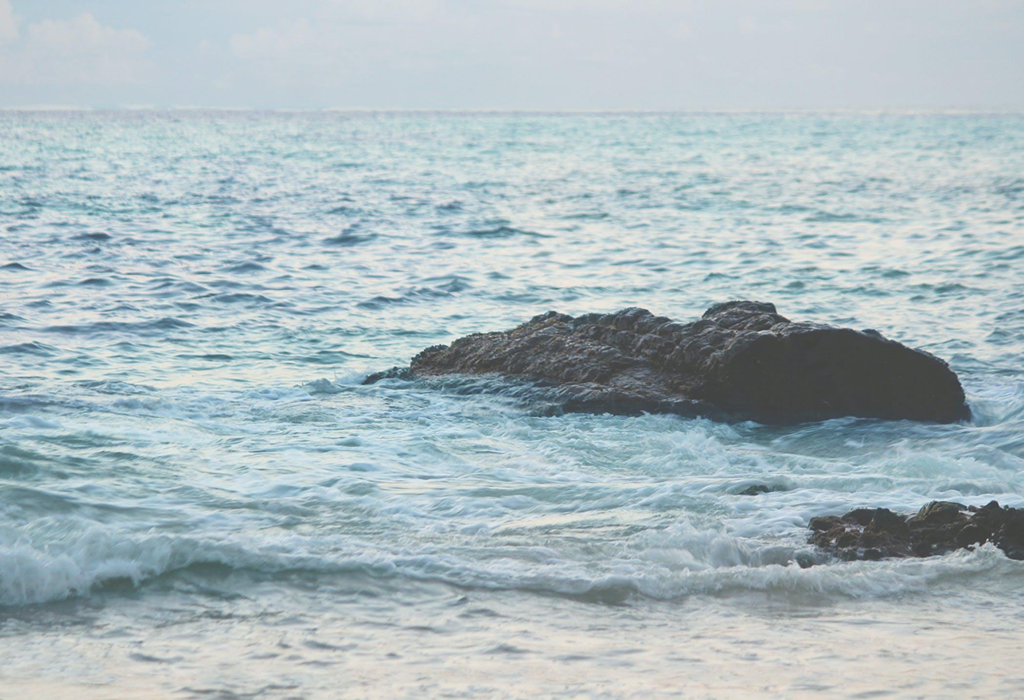 Fotobanka sbezplatnými fotkami na tému goa, mávať, modrá obloha, modrá voda