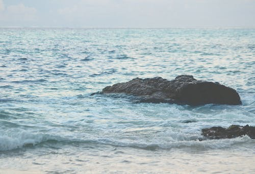 Foto stok gratis air, air biru, gelombang, goa