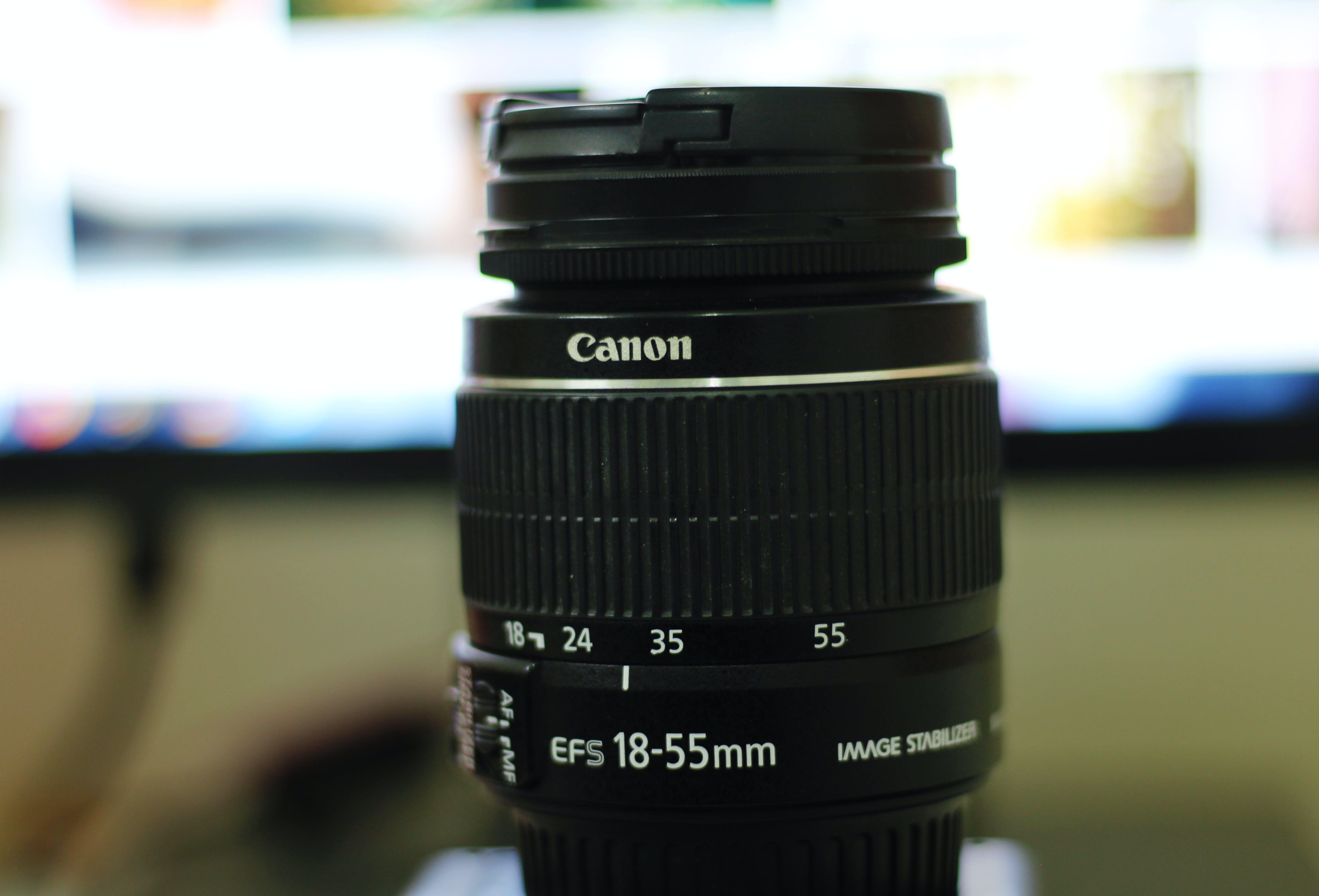 Fotobanka sbezplatnými fotkami na tému 18-55, Canon, ef, fotka